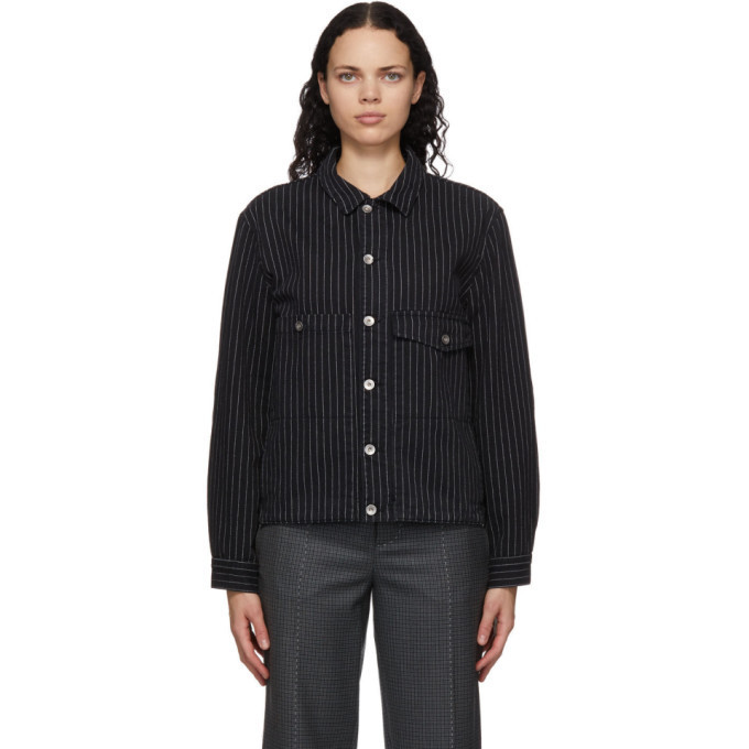 YMC Black Pinstripe Pinkley Jacket in ecru