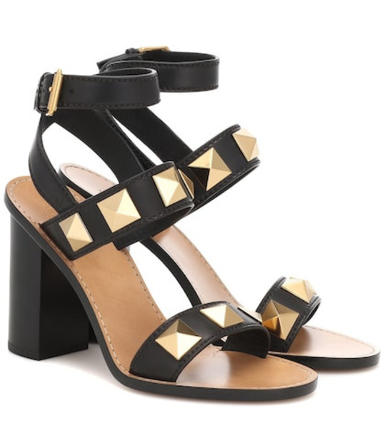 Valentino Garavani Rockstud leather sandals in black