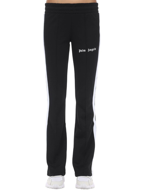 PALM ANGELS Logo Acetate Pants in black