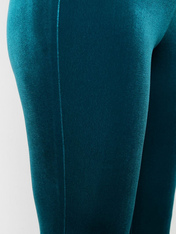 Antonella Rizza flared velvet trousers in blue