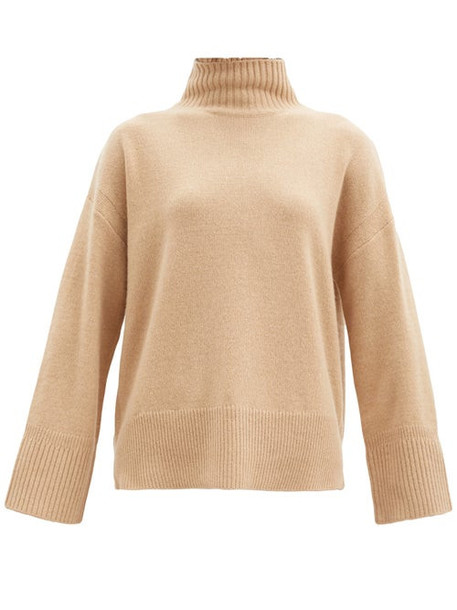 Frame - High-neck Cashmere Sweater - Womens - Beige