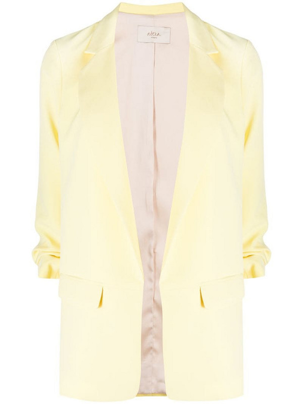 Altea single breasted gathered sleeve blazer in yellow