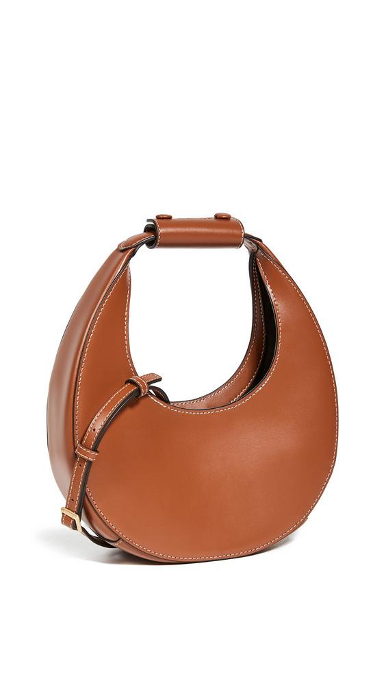 STAUD Mini Moon Bag in tan