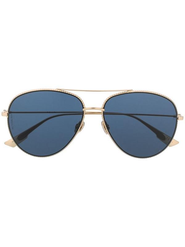Dior Eyewear Dior Society aviator-frame sunglasses in gold