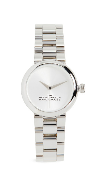 The Marc Jacobs The Round Watch 32mm in silver
