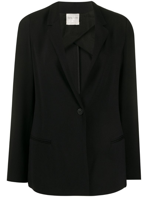 Forte Forte fitted narrow lapel blazer in black