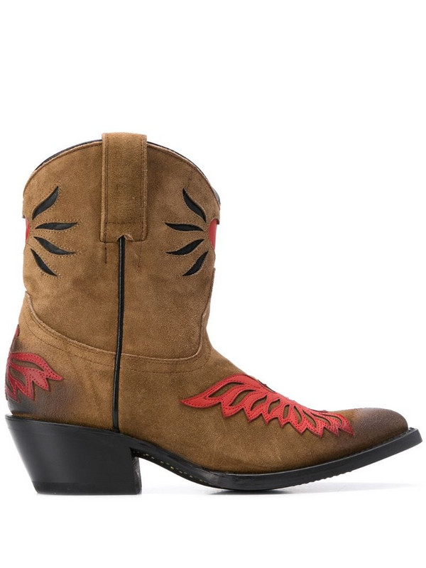 Ash Pablit cowboy boots in brown