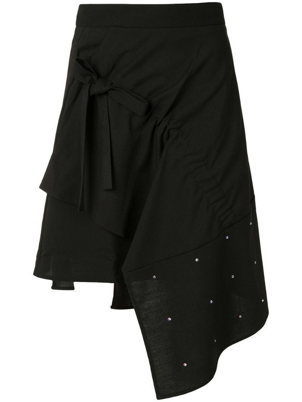 BAPY BY *A BATHING APE® asymmetric embellished skirt in black