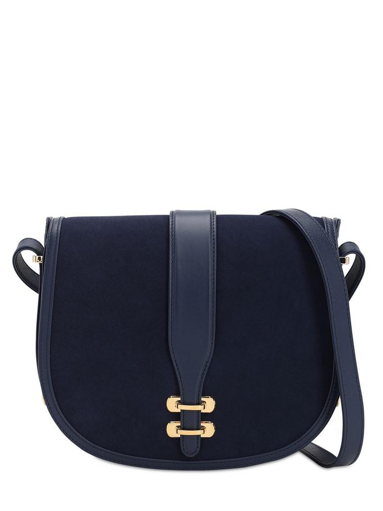 ALBERTA FERRETTI Albi Suede Shoulder Bag in blue