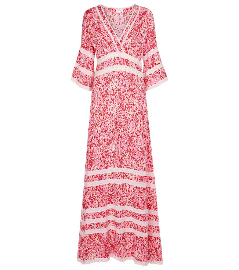 Poupette St Barth Exclusive to Mytheresa – Capri floral crêpe maxi dress in pink