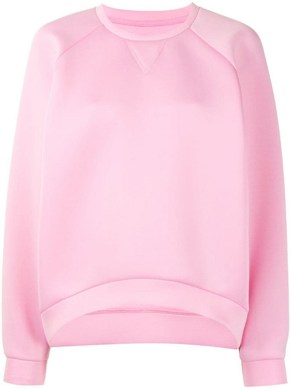Cynthia Rowley crew-neck long sleeve sweatshirt in pink