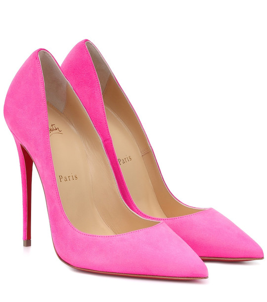 Christian Louboutin So Kate 120 suede pumps in pink
