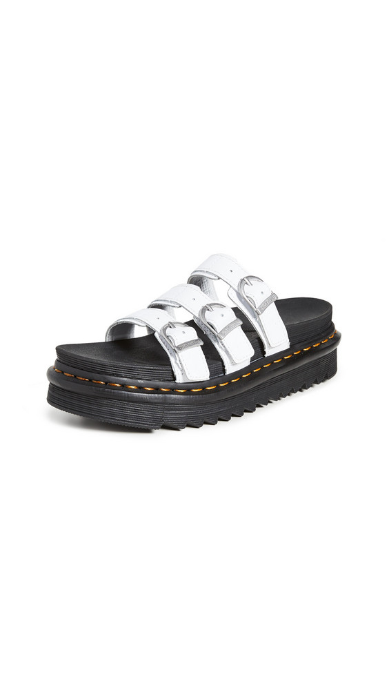 Dr. Martens Blaire Slide Sandals in white