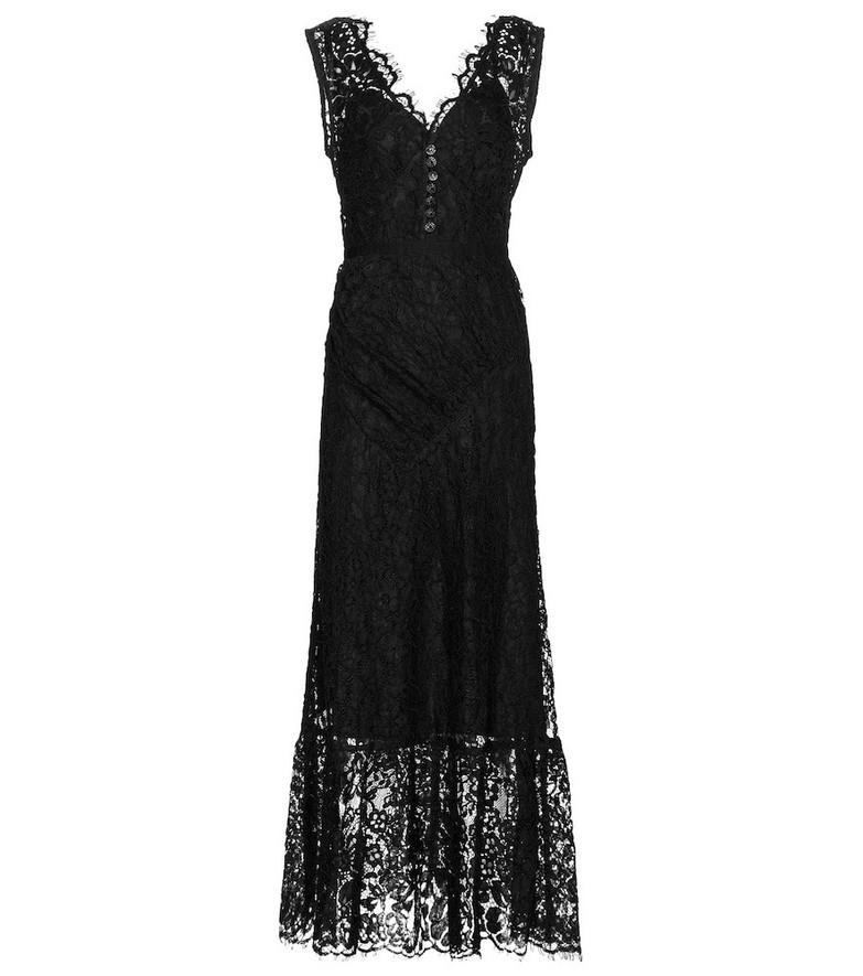 Self-Portrait Guipure lace midi dress in black