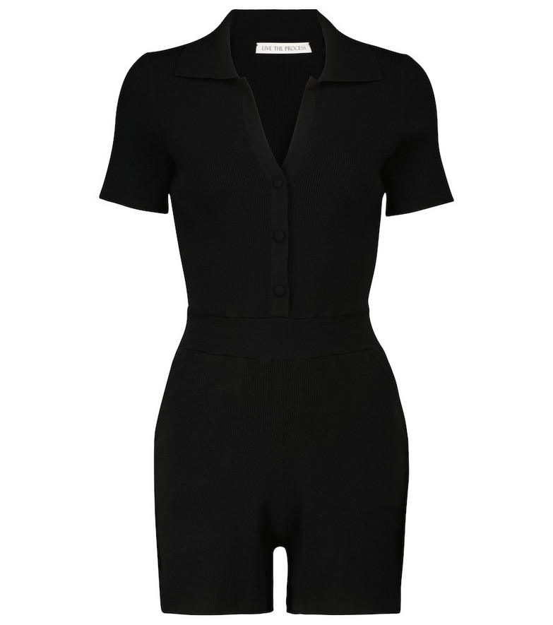 Live The Process Astrid playsuit in black