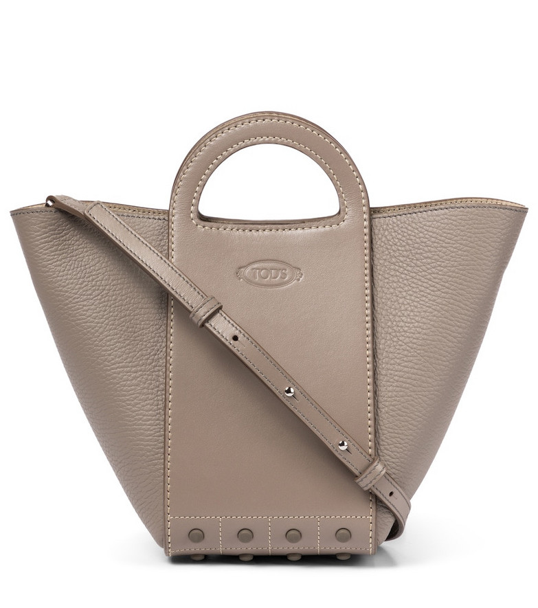 Tod's Gommini leather tote in beige