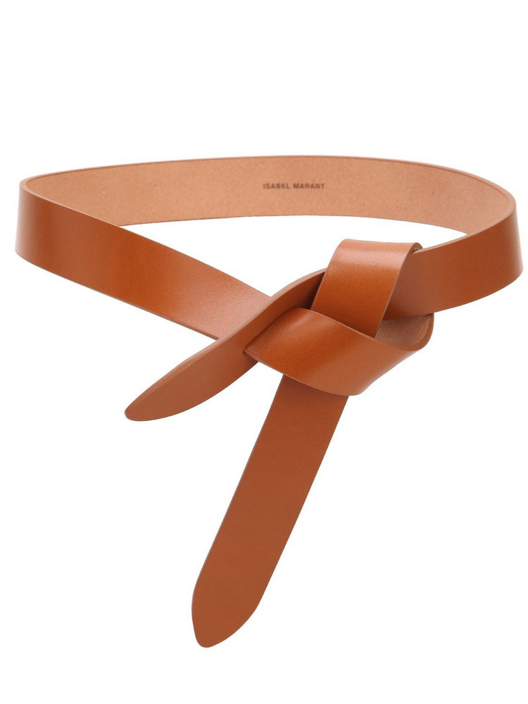 ISABEL MARANT 30mm Lecce Leather Belt W/bow in natural