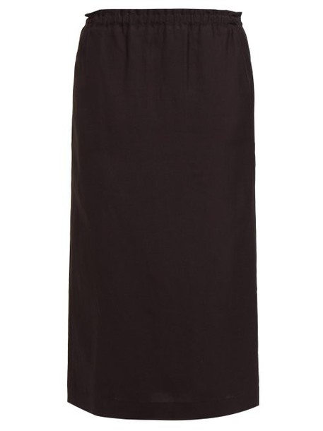 Raey - Elasticated Waist Skirt - Womens - Black