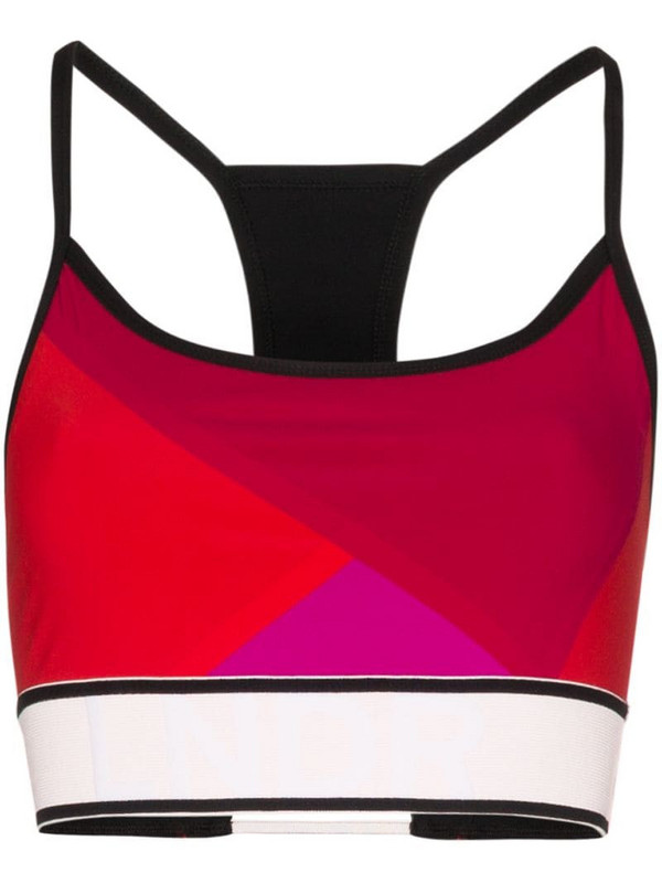 LNDR Beach Run colour-block sports bra in black