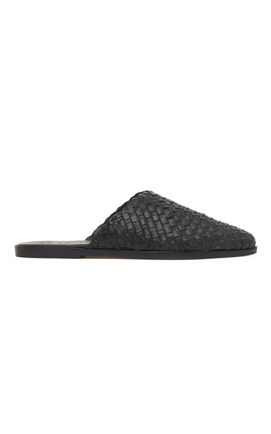 St. Agni Caio Woven Leather Flats Size: 35 in black