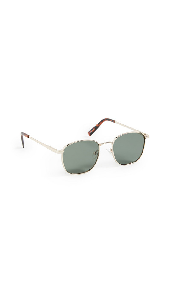 Le Specs Neptune Deux Sunglasses in gold / khaki