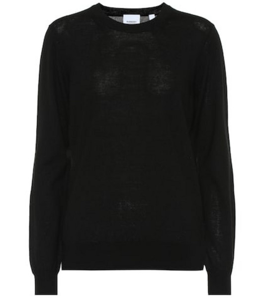 Burberry Merino wool sweater in black