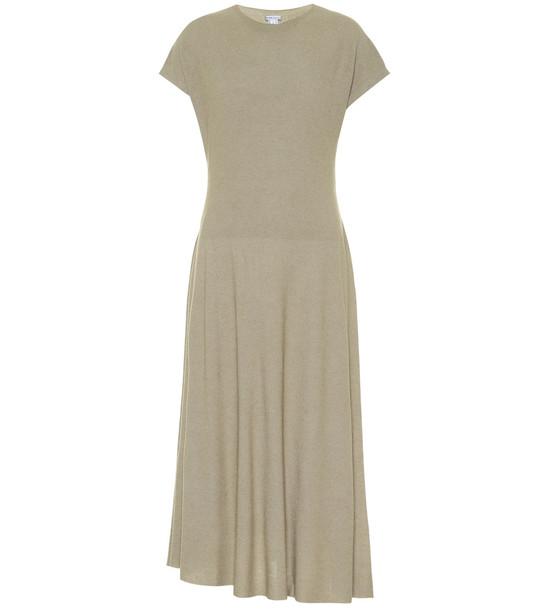 Agnona Knit midi dress in beige