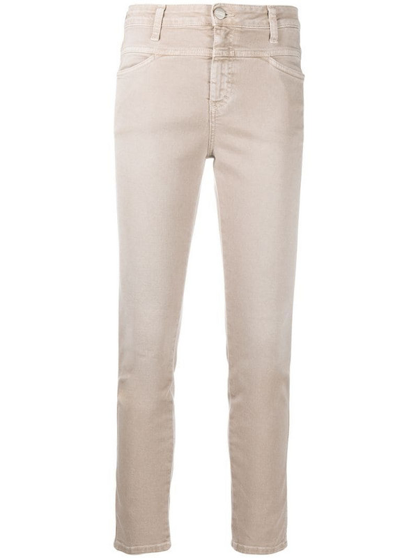 Closed mid-rise skinny jeans in neutrals