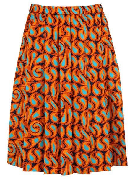 Marni Tangerine Print Skirt