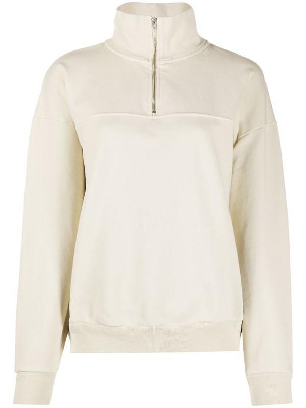 Jeanerica half-zip long-sleeved jumper in neutrals