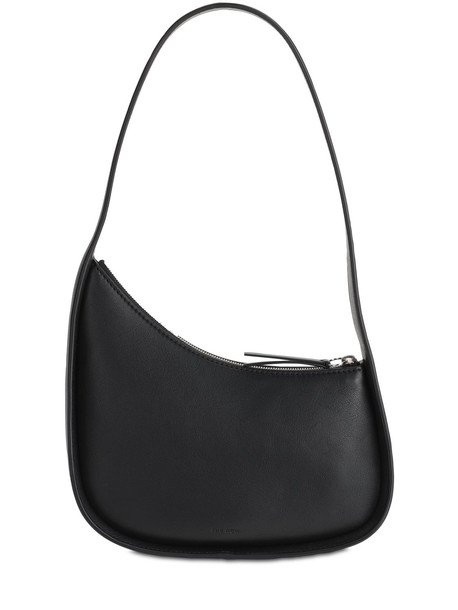THE ROW Half Moon Leather Shoulder Bag in black