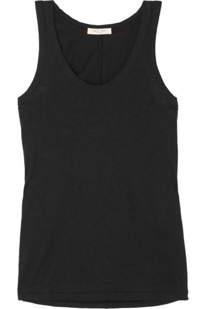 rag & bone - Slub Cotton-jersey Tank - Black