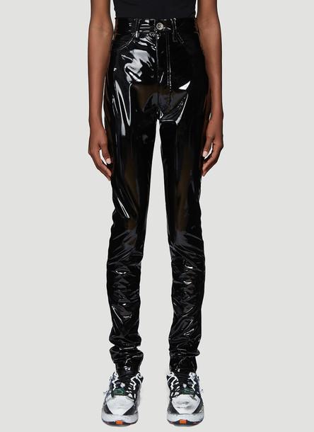 Maison Margiela Vinyl Pants in Black size IT - 38