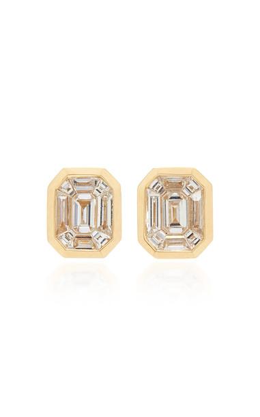 AS29 Illusion 18K Gold Diamond Earrings