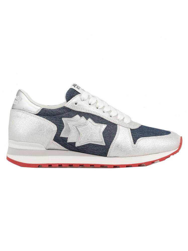 Atlantic Stars Leather Sneaker in silver