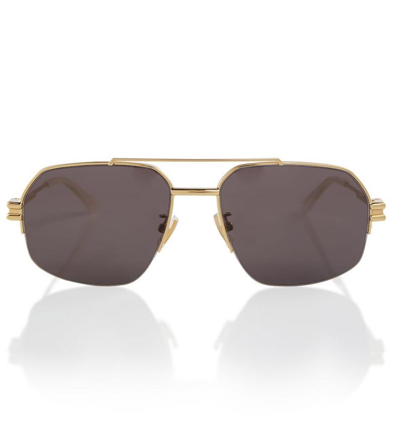 Bottega Veneta Square frame acetate sunglasses in black
