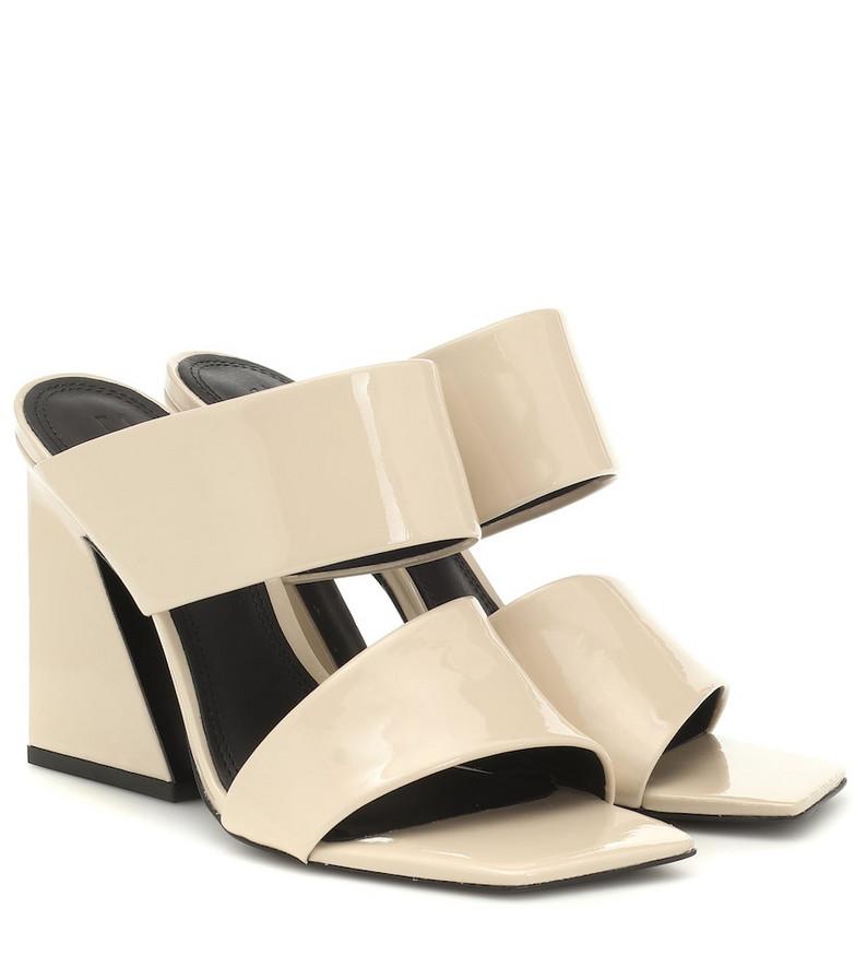 Mercedes Castillo Laurann patent leather sandals in beige