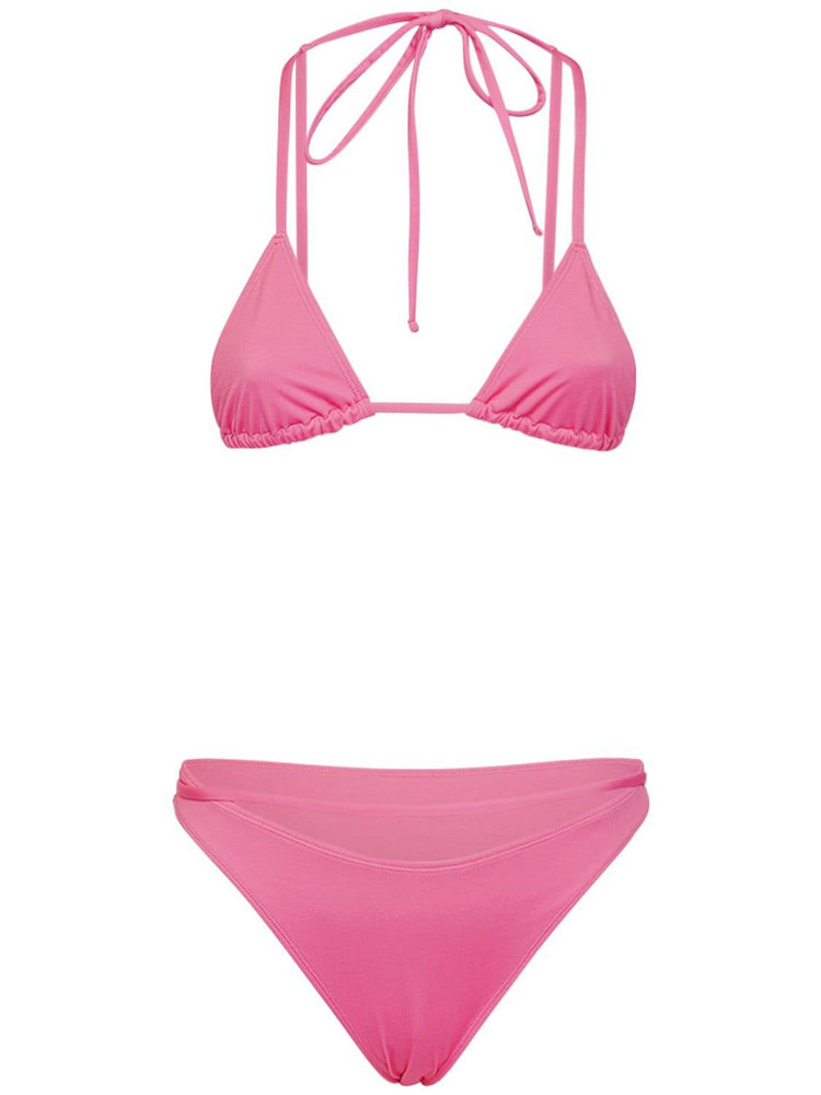 JACQUEMUS Wrap Around Bikini in pink