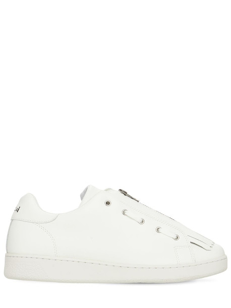 A.P.C. 20mm Julietta Fringed Leather Sneakers in white