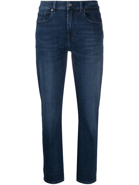7 For All Mankind mid-rise slim fit jeans in blue