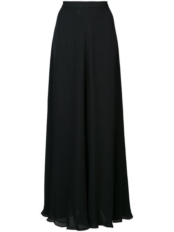 VOZ long A-line skirt in black