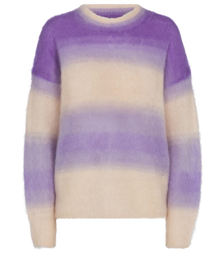 Isabel Marant, Étoile Drussell striped mohair-blend sweater in purple