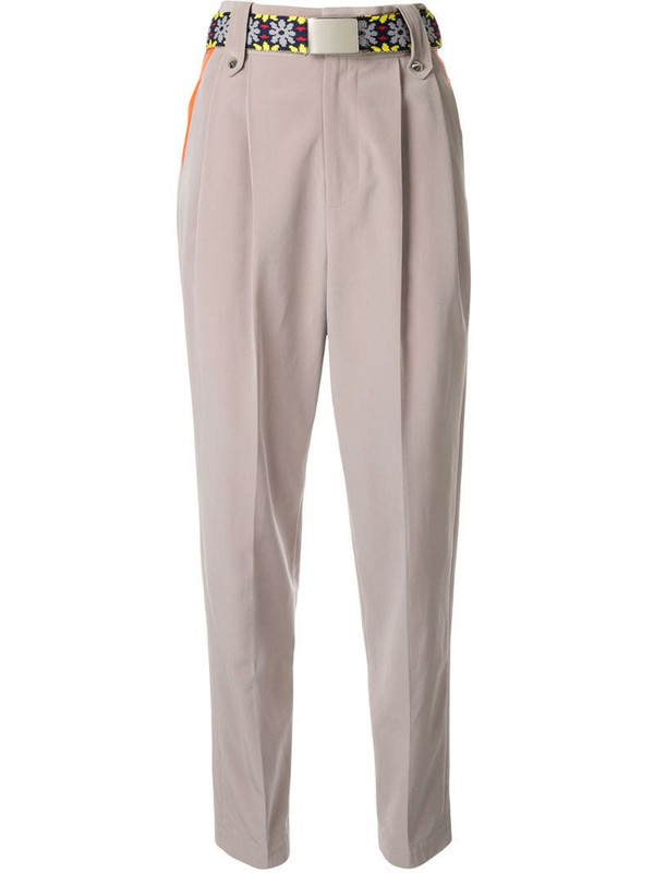 Kolor contrast pocket tapered trousers in neutrals