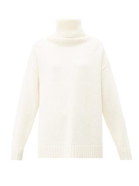 Joseph - Sloppy Joe Oversized Wool Sweater - Womens - Cream
