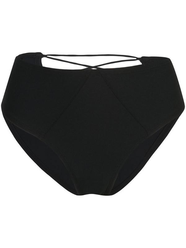 Kiki de Montparnasse high-waisted bikini bottoms in black
