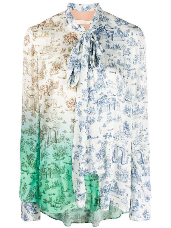 Ssheena toile de jouy shirt in green