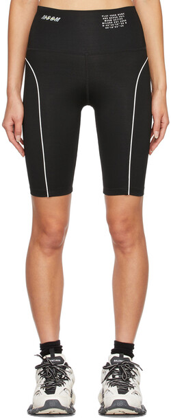 MSGM Black Nylon 'Play Your Game' Sport Shorts