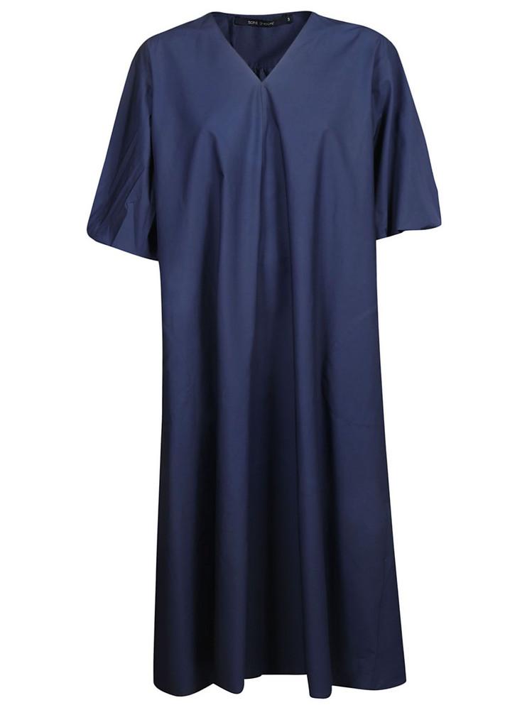 Sofie D'hoore Puff Sleeves Dress in blue