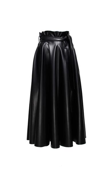 Anouki Faux Leather Maxi Skirt in black