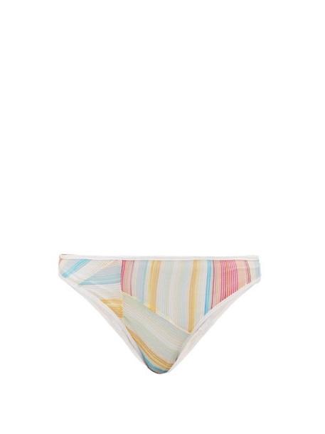 Missoni Mare - Rainbow Stripe Bikini Briefs - Womens - Multi